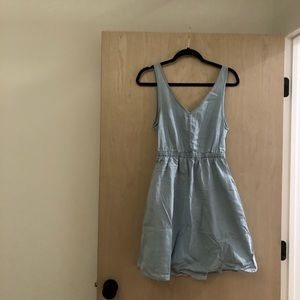 H&M jean dress with pockets and open back